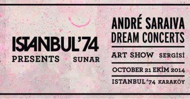 """André Saraiva'nın """"Dream Concert"""" sergisi ISTANBUL'74'te açılıyor"""