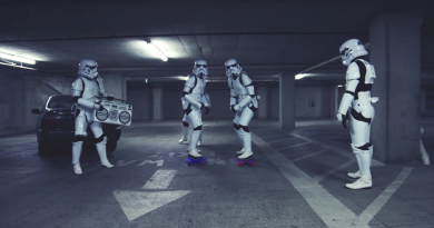 """Günün kısası: """"Stormtrooper Longboard Race GONE BAD!"""""""