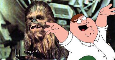 Chewbacca'nın seslendirmesi bu kez Peter Griffin'den