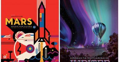 NASA'dan turistik ve retro posterlerle uzaya davet