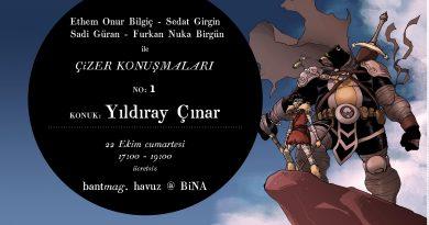 """Bant Mag. Havuz'daki """"Çizer Konuşmaları"""" serisinin ilk konuğu Yıldıray Çınar"""