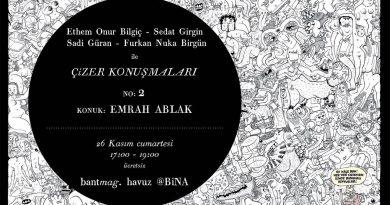 """Bant Mag. Havuz'da gerçekleşen """"Çizer Konuşmaları"""", Emrah Ablak'la devam ediyor"""
