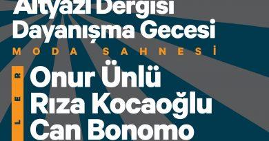 """""""Altyazı Dergisi Dayanışma Gecesi"""", 30 Ocak'ta Moda Sahnesi'nde"""