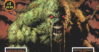 """""""Swamp Thing""""in Cadılar Bayramı özel sayısından ilk sayfalar"""