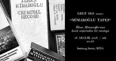 """Grup Ses'in """"Mimaroğlu Tapes"""" performansı, 18 Aralık akşamı Bant Mag. Havuz'da"""