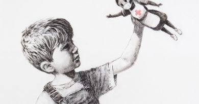 Banksy'den sağlık çalışanlarına anlamlı hediye