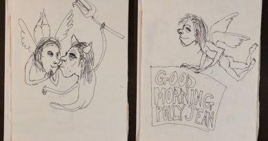 Kaptan Zaman: Nick Cave'in 90'larda PJ Harvey için çizdiği resimler