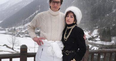 """Lady Gaga ve Adam Driver, """"House of Gucci"""" için İtalyan Alpleri'nde"""