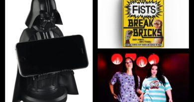3 ürün: Kung fu filmleri kitabı, Spirited Away kreasyonu, Star Wars telefon stantları