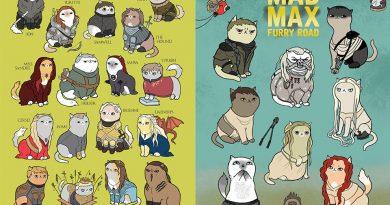 """""""Mad Max""""ten """"Game Of Thrones""""a, televizyon ve sinema yapımlarının ana karakterleri kedi oldu!"""