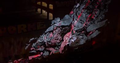 Video: Sofles'in mural çalışmasına nefes kesen bir mapping!