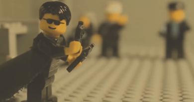 """""""The Matrix""""in ünlü lobi sahnesi, LEGO'larla yeniden canlandırıldı!"""